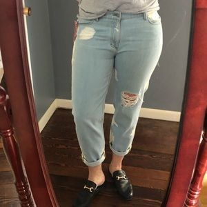 Siwy Jeans 31 Kendra Slouchy Skinny Bleached Crop
